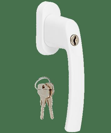 Poignée à clé blanche