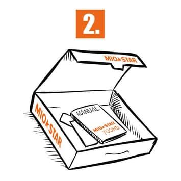 Bedienungsanleitung oder Verpackung