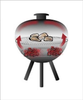 Barbecue direct avec gril à charbon