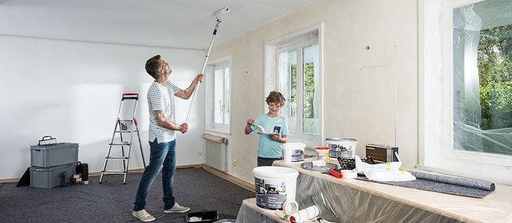 Dipingere il soffitto