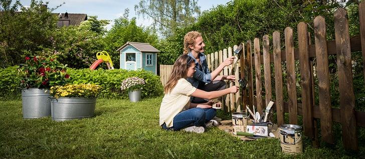 Gartenhag streichen