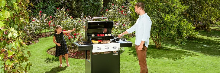 Sunset BBQ grill a gas