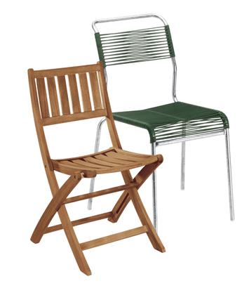 Sedie + sedie con braccioli da giardino