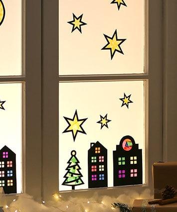 Blog: Weihnachtliche Fensterbilder