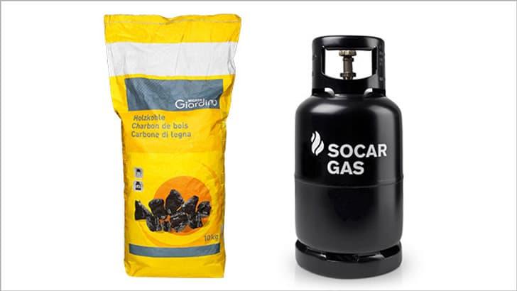 Charbon de bois, gaz liquide