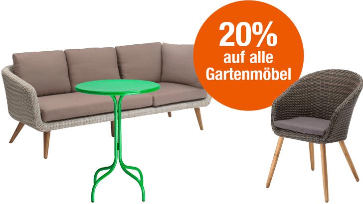 20% auf alle Gartenmöbel