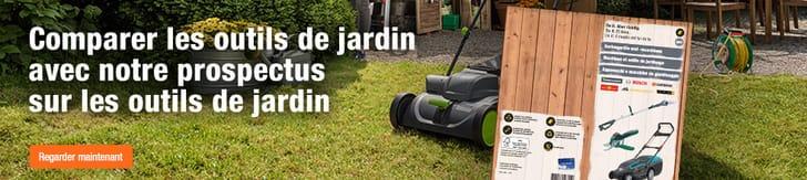 Prospectus sur les outils de jardin