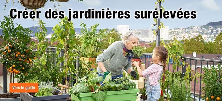 Jardinière surélevée pour terrasses