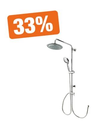 33% auf alle Duschsysteme