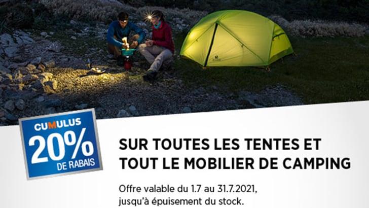 Action de la tente Cumulus