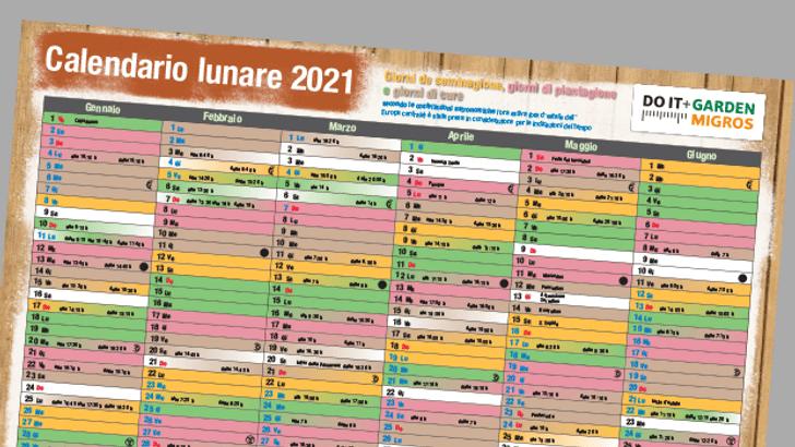 Calendario lunare 2021