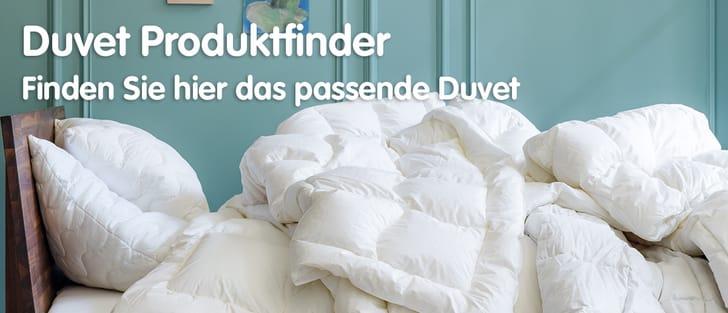 Bett mit weissem Duvet