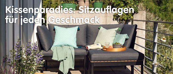 Banner Gartensitzauflagen