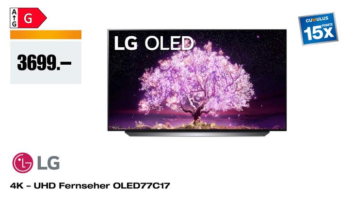 """LG OLED77C17 77"""" 4K webOS 6.0"""