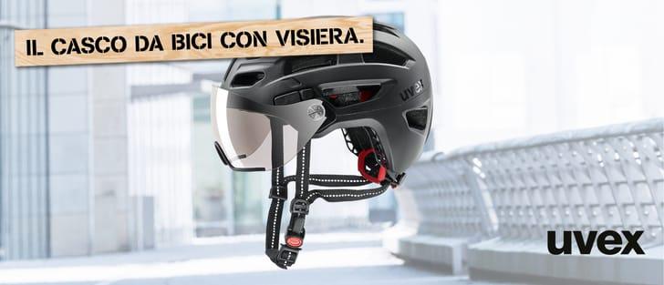 Uvex casco da bici con visiera
