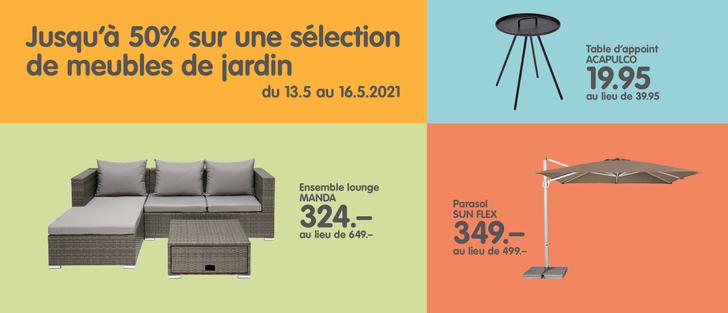 Banner meubles de jardin actions